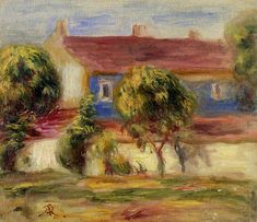 """""""The Artist's House"""", Pierre Auguste Renoir, Private collection, Painting - oil on canvas"""