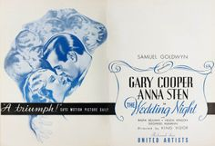 The Wedding Night: Double page spread from Motion Picture Daily