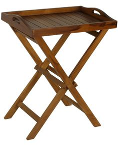 Bare Decor Kalos Outdoor Solid Teak Wood Tray Table 30Inch Brown -- You can get more details by clicking on the image. (This is an affiliate link) #OutdoorFurniture