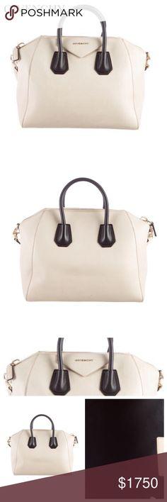 GIVENCHY MEDIUM ANTIGONA BAG Givenchy Medium Antigona cream bag with  antique gold-tone hardware f5e51f71109ff