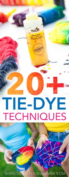 Be inspired by one of these cool tie dye techniques / patterns from Tulip. Get over 20 ideas from shibori to spiral to shade to get your tie dye this summer! Step-by-step examples make monitoring easier! to tie dye shirts step by step Tie Dye Steps, How To Tie Dye, How To Dye Fabric, Easy Diy Tie Dye, Dyeing Fabric, Tie Die Shirts, Diy Tie Dye Shirts, Diy Shirt, Tie Dye Jeans