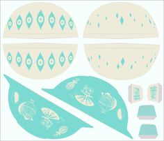 Cut and Sew Turquoise Pyrex fabric by mandasisco on Spoonflower - custom fabric