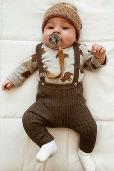 Collection of Fashion for Kids and Babies Cute Baby Boy Outfits, So Cute Baby, Cute Baby Clothes, Baby Love, Cute Babies, Baby Kids, Newborn Baby Boy Clothes, Baby Baby, Newborn Hospital Outfits