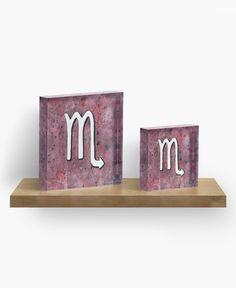 """Zodiac sign : Scorpio"" Acrylic Block by @savousepate on @redbubble #scorpio #astrology #astrologicalsign #zodiacsign #watercolor #painting #acrylicblock #artprint #homedecor"