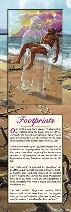 FOOT PRINTS MAN - 8X20