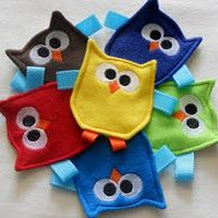 Owl Crinkle Toys and add taggies  - easy to make @Mallory Puentes Puentes Puentes Puentes R