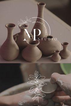 """A brand reveal for Melkbos Pottery """"Melkbos Pottery Studio situated in Sunningdale (originally from Melkbosstrand), Cape Town and home to Melissa Barker Ceramics as well as her Pottery teaching studio. Melkbos Pottery studio is a teaching studio for beginner to advanced pottery students, as well as home to artists that don't have access to their own studio."""" Get in touch if you need a logo or think about re-branding. Pottery Studio, Cape Town, Art Direction, Design Art, Students, Place Card Holders, Branding, Artists, Touch"""