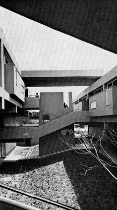 Housing for Visiting Professors, Rehevot, Israel, 1960s (Rechter  Zahry)