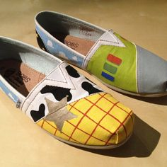 DIY Painted Toy Story Toms (well, Bobs because I'm poor) Visit my Etsy shop! -AM
