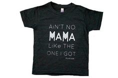 Stellar Seven's Ain't No Mama Tee is back and in this brand new dark grey color. Our most popular tee...
