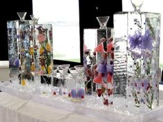Ice Bars and Ice Martinis from Brilliant Ice Sculpture Creative Party Ideas, Creative Suite, Ice Sculpture Wedding, Ice Images, Ice Luge, Wedding Signature Drinks, Martini Bar, Colorful Drinks, Enchanted Forest Wedding
