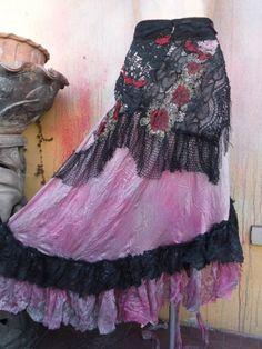 20%OFF bohemian wrap skirt bohemian skirt shabby skirt by wildskin