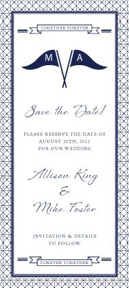 Cute navy save the date