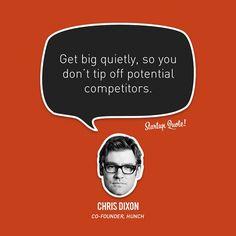 Get big quietly!