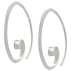 Bday Ideas @Overstock - Tressa Sterling Silver Spiral Hoop Earrings - These sterling silver earrings feature a unique design with a highly polished finish.  http://www.overstock.com/Jewelry-Watches/Tressa-Sterling-Silver-Spiral-Hoop-Earrings/5329787/product.html?CID=214117 $25.49