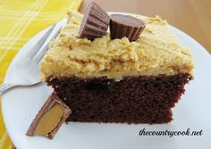 The Country Cook: Reese's Peanut Butter Cup Cake