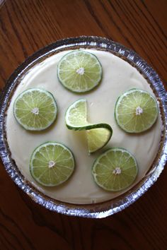 Key Lime Pie made with condensed milk & Greek Yogurt.