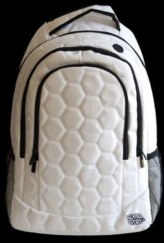 soccer ball material backpack.......ummmmmmm, so what do I do with it? I can kick my backpack now?!