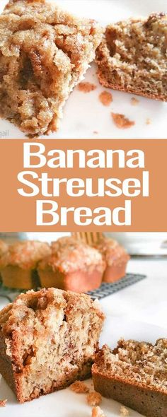 Banana Streusel Bread is a scrumptious twist on the classic banana bread! Easy and delicious- it's sure to be a crowd-pleaser! #baking #banana #bread #breakfast #recipe #sweet #streusel #snack Best Bread Recipe, Banana Bread Recipes, Muffin Recipes, Mexican Food Recipes, Dessert Recipes, Fall Recipes, Yummy Recipes, Good Food, Yummy Food