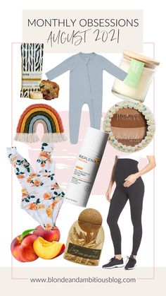 AUGUST 2021 MONTHLY OBSESSIONS | Blonde & Ambitious Blog Rainbow Decorations, I Am Amazing, We Energies, Physicians Formula, Custom Candles, Pre Pregnancy, Sun Care, Energy Bars, Second Baby
