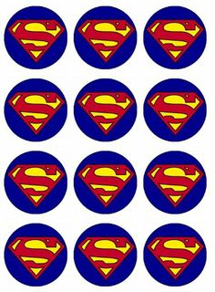 Superman Cupcake Toppers Edible Image For Birthday Party Edible with Superman Cupcake Toppers Edible Image For Birthday Party Edible Cupcake Toppers Bolo Do Superman, Superman Cupcakes, Superman Baby, Superman Birthday Party, Batman Party, Birthday Parties, Superhero Cake, Superhero Superman, Superhero Cookies