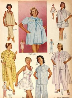 Lounge Outfit, Lounge Wear, Baby Doll Nighties, Sleepwear & Loungewear, White Gowns, Pajama Shirt, Vintage Style Dresses, Night Gown, Vintage Fashion