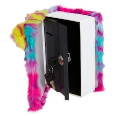 Image for Fluffy Booksafe from Smiggle UK Project Mc Square, Girls Room Storage, Cool School Supplies, Unicorn Fashion, Tween Girl Gifts, Unicorn Bedroom, Shop Justice, Cute Notebooks, Ice Cream Maker