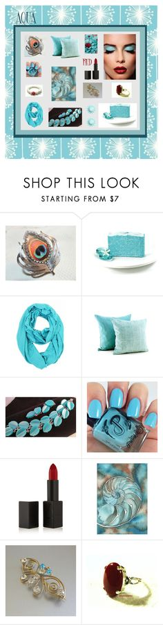 """Aqua"" by anna-ragland ❤ liked on Polyvore featuring NARS Cosmetics and vintage"