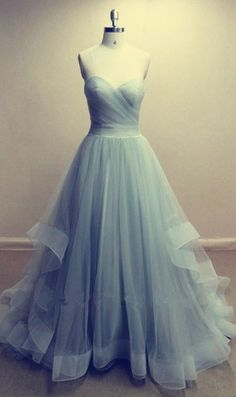Charming Long Tulle Prom Dress, Evening Dress , Party Dresses
