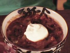 Black Bean Soup recipe from Dave Lieberman via Food Network either completely cut out bacon or just do a couple pieces