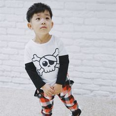 >> Click to Buy << Kids T-shirt 2017 New Fashion Boy's Tops Cartoon Pirate Skeleton Print Cute Children's Tee Long Sleeve Color Black And White #Affiliate