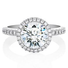 デビアス オーラ リング ラウンドブリリアント カット - DE BEERS(デビアス)の婚約指輪(エンゲージメントリング)インポートのエンゲージリング・婚約指輪まとめ一覧♡