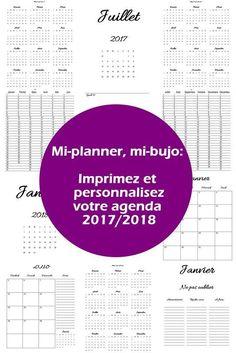 bullet journal et planner : l'agenda 2017 / 2018 à imprimer gratuitement 1