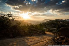 Sunset above the road, Swaziland