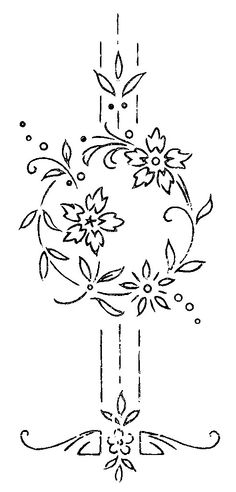Flower Embroidery Pattern W 733 or Serial nº 2022 e Floral Embroidery Patterns, Hand Embroidery Designs, Vintage Embroidery, Embroidery Applique, Cross Stitch Embroidery, Cross Stitch Patterns, Machine Embroidery, Flower Embroidery, Embroidery Transfers
