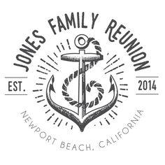 Anchor Family Reunion T-Shirt Logo DIGITAL FILE by BAJDESIGNS