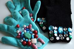 jeweled gloves tutorial