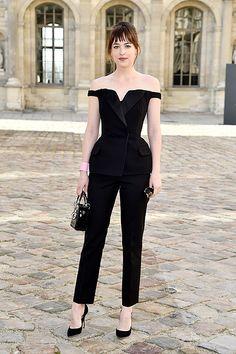 Дакота Джонсон на показе Dior