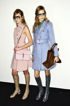 Gucci-AW14-styleonthecouch: PASTELS VS BRIGHT COLOURS. Spring 2014 saw a sweet as sugar candy rush for the summer palette. For Fall pastels are still around but more subdued in tone; think Gucci's 'My Little Pony palette' of desaturated pinks, greens and blues.  On the other side of the spectrum, colours were zesty and bright; think Dior's colour clashes and House of Holland's bold and colorful 'Debauched Debutantes'.