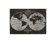 Sterling World Map Laser Cut Map Of The Globe Wall Art