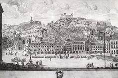 Quatro pinturas sem autor nem data mostram Lisboa antes do terramoto de 1755. Provavelmente foram pintadas quando a nova Lisboa começava já a edificar-se – um sinal da nostalgia.