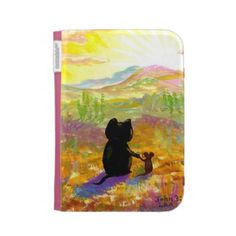 #cats New Design Today for Kindle Case and Other Products on Zazzle. http://www.zazzle.com/cute_cat_and_mouse_desert_painting_creationarts_case-222693544610386101?rf=238693571731401261