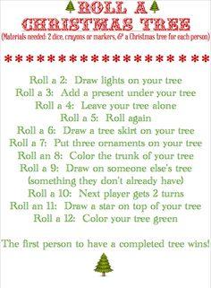 Roll a Christmas Tree kids' game