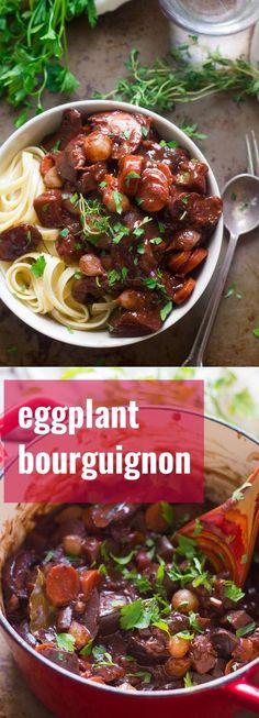 Eggplant Bourguignon