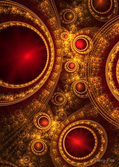 """""""Ruby Gems"""" - art by Fiery-Fire, via redbubble"""