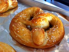 Made soft pretzels...they looked a little different than this and we added cheese to some. They were YUmmy!