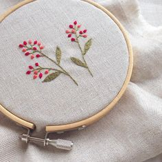 An Encyclopedia of Ribbon Embroidery Flowers: 121 Designs (American School of Needlework, No. Embroidery Hoop Crafts, Hand Embroidery Projects, Flower Embroidery Designs, Simple Embroidery, Hand Embroidery Stitches, Silk Ribbon Embroidery, Embroidery Techniques, Embroidery Art, Embroidery Supplies