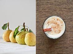 Pear almond milk  1 cup Almond Milk  1 medium size pear, cored  cinnamon or pumpkin pie spice  Vanilla Stevia