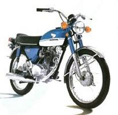 My 1st Motorcycle was a 1971 Honda CB100cc, bought while I was in the Army at Ft. Bragg, NC. It looked just like this one. I wiped out on the way back to post with it because I didn't know how to shift gears properly and accidently popped my 1st wheely, jumped the curb and crashed into a snowy parking lot just outside downtown Fayetteville, N.C.. Miraculously I was not hurt and the bike received only minor scrapes and dings. http://www.motorera.com/honda/h0100/sport100/cb100k1.jpg