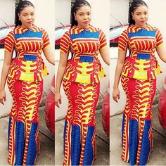 Creative Ankara Skirt and Blouse Style http://www.dezangozone.com/2016/05/creative-ankara-skirt-and-blouse-style_25.html